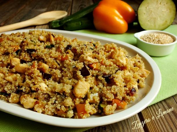 Ricette Con Quinoa Pollo E Verdure.Quinoa Con Verdure E Pollo Zenzero E Limone