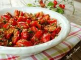 pomodorini con pane croccante