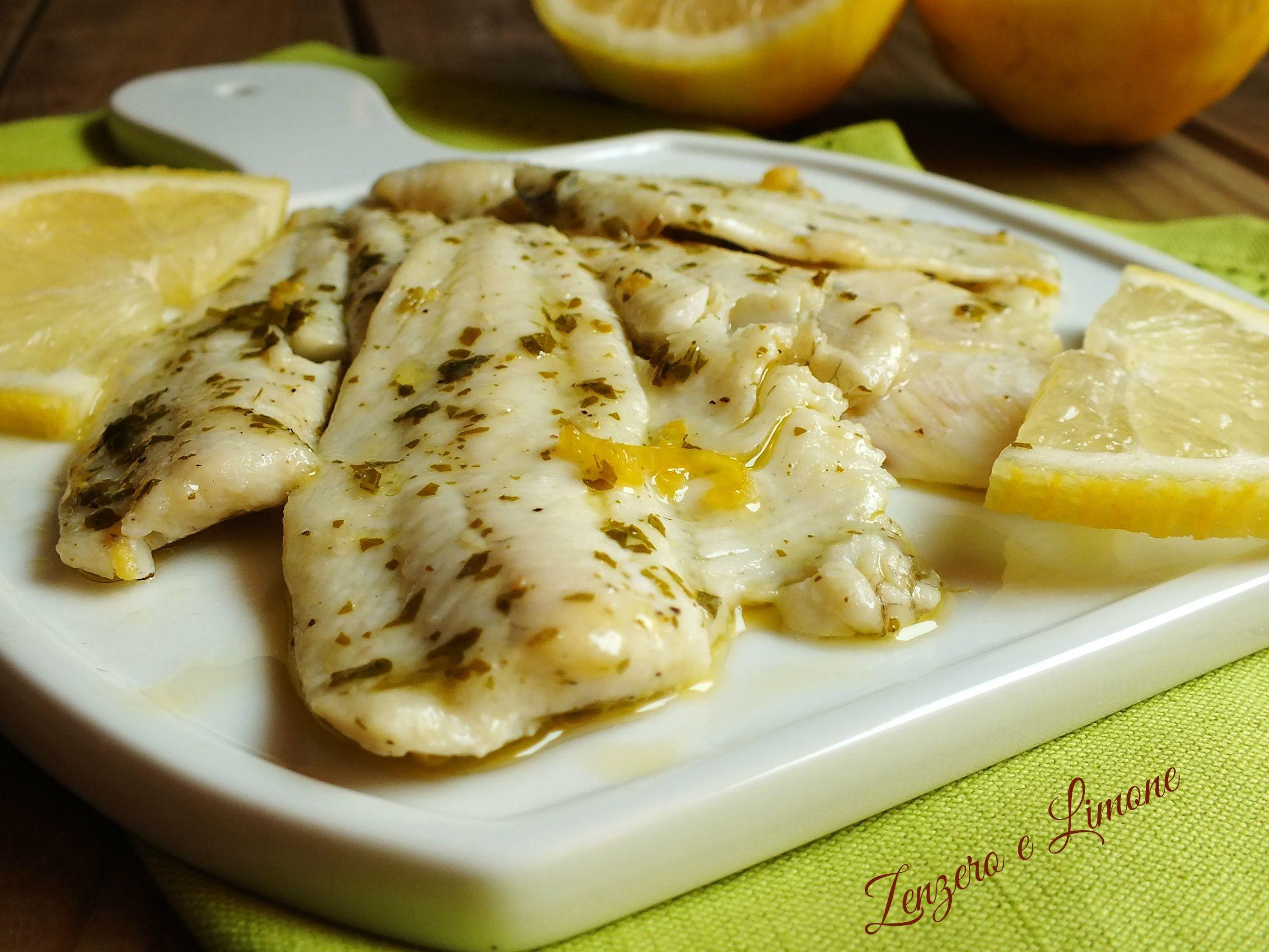 filetti di platessa al limone dettaglio