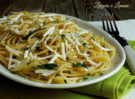 Spaghetti in bianco e verde