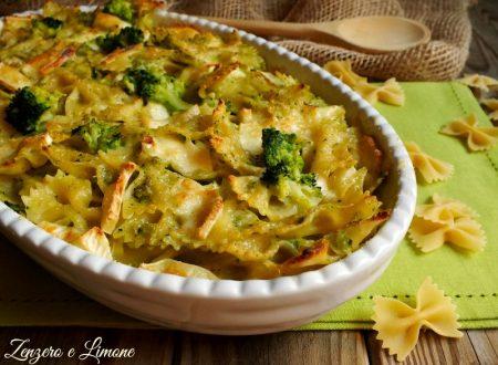 Pasta al gratin con broccoli e formaggio