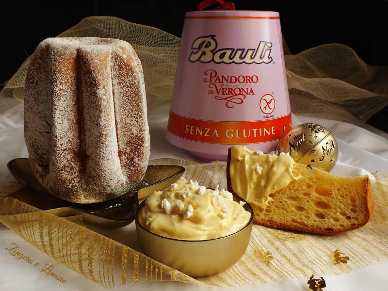 Pandoro senza glutine con crema al mascarpone croccante