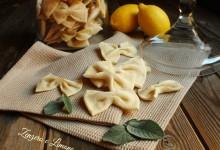 Crackers alla salvia e limone