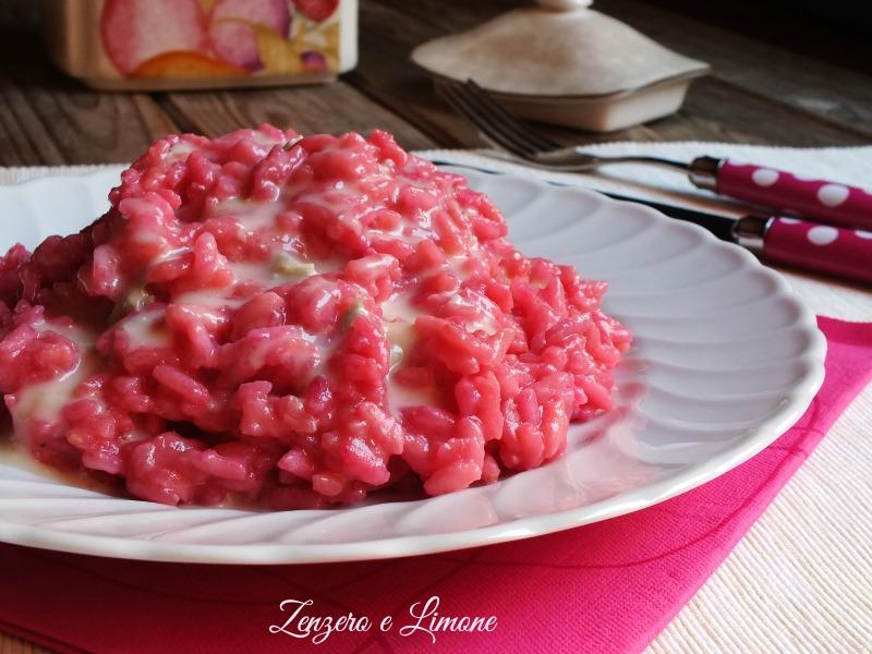 risotto rosa al gorgonzola