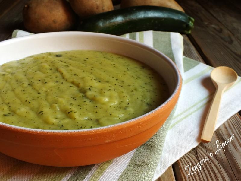 vellutata zucchine e patate