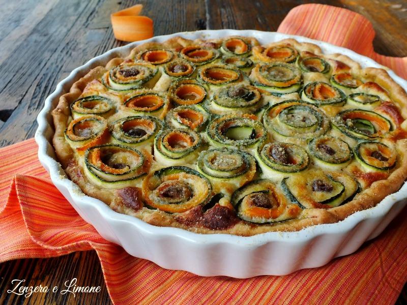 Torta salata di zucchine e carote