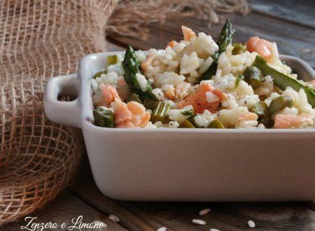 Risotto agli asparagi e salmone