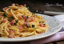 Spaghetti al pangrattato e prosciutto