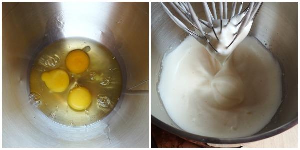 torta alla crema di nocciole - uova Collage