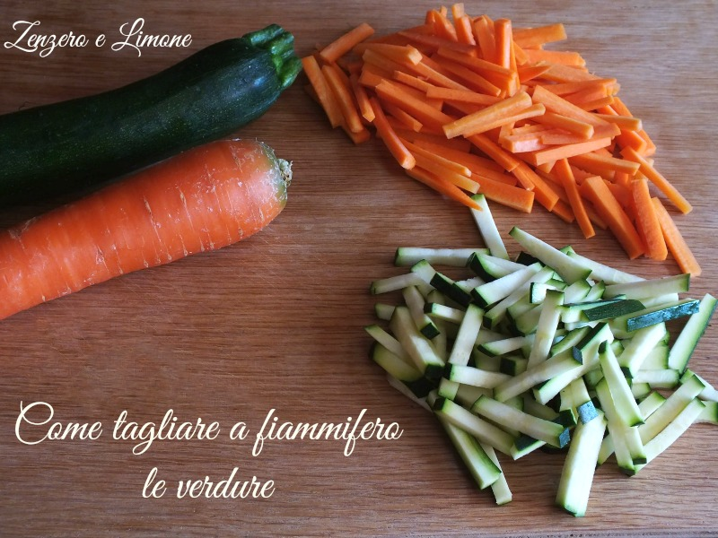 come tagliare a fiammifero le verdure