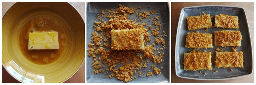 cotolette di formaggio - panatura