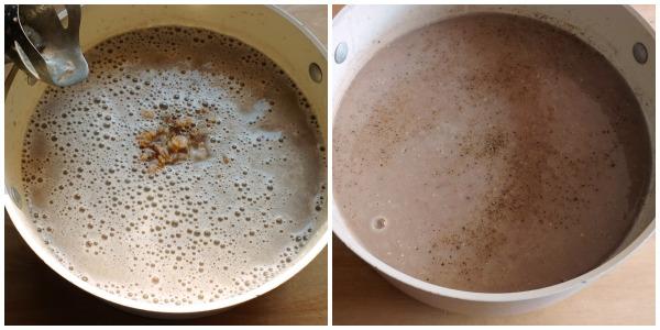 crema di fagioli e farro - frullare