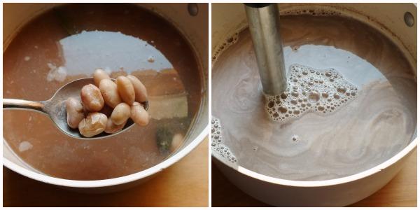 crema di fagioli - frullare
