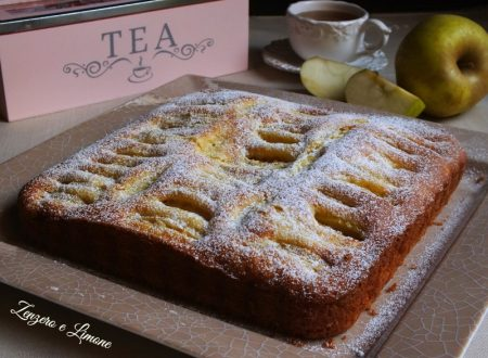 Lemon scented apple cake