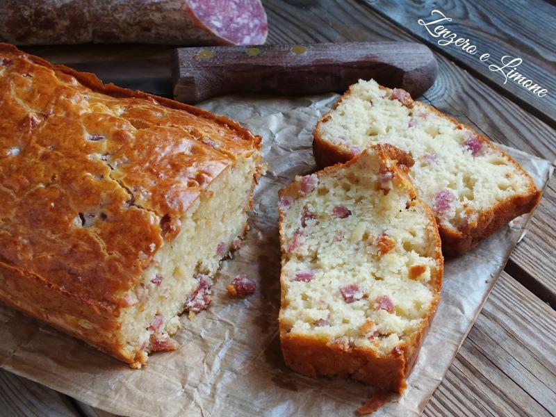 Plumcake al Salame e Formaggio