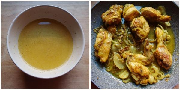 pollo al curry - fine cottura