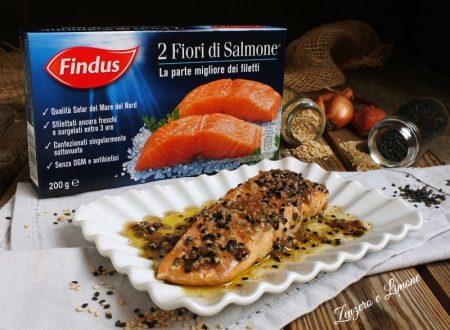 Fiori di salmone al sesamo