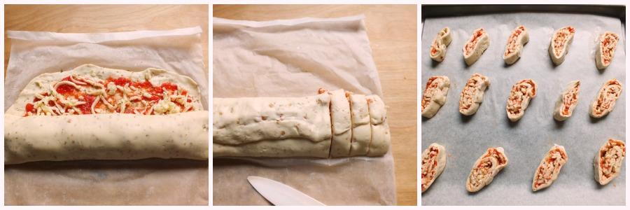 pizzette veloci - procedimento