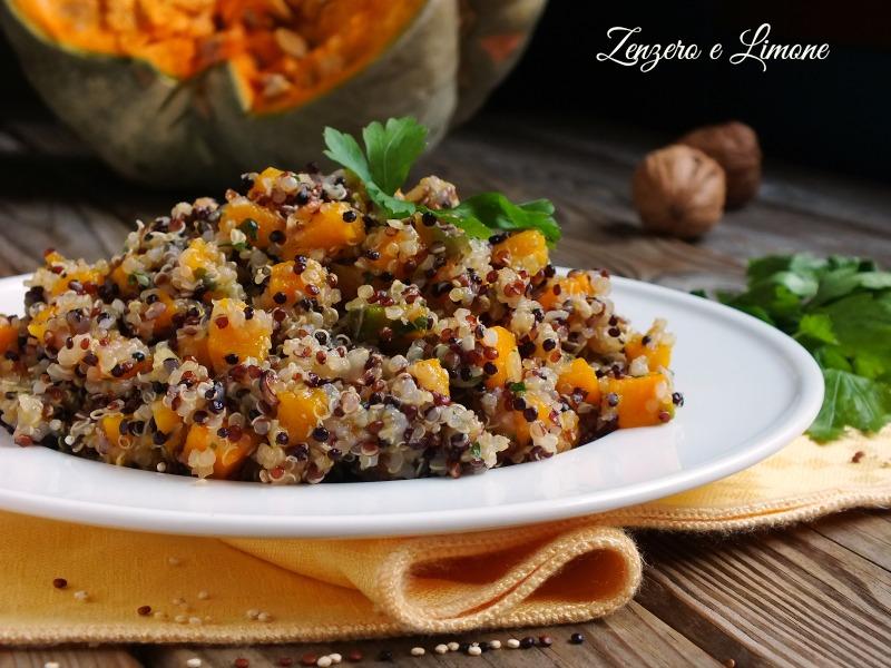 Ricetta Quinoa Nera.Quinoa Alla Zucca Ricetta Senza Glutine Zenzero E Limone