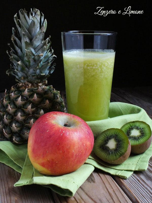 succo all'ananas mela e kiwi
