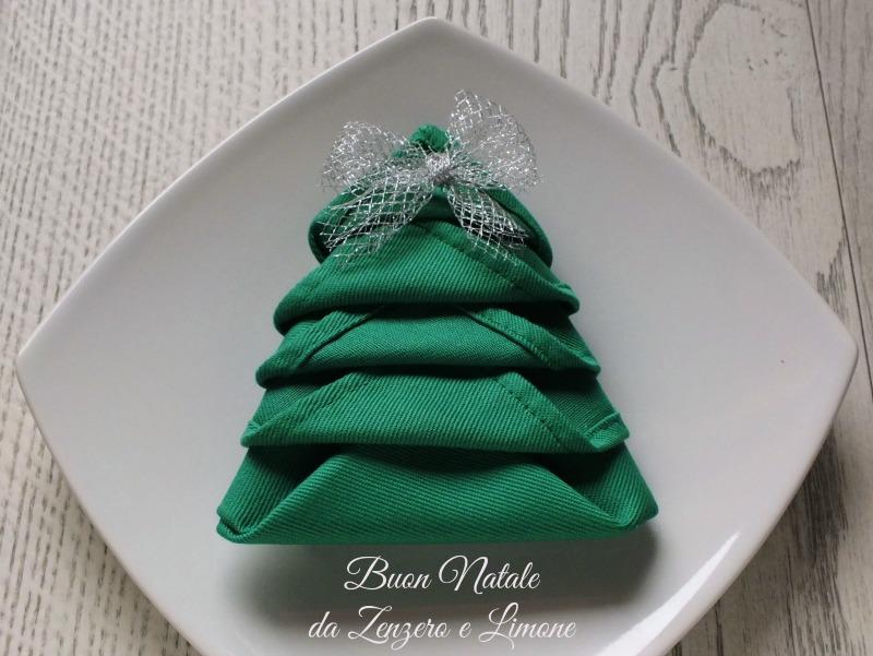 Tovagliolo Albero Di Natale Idea Simpatica Zenzero E Limone