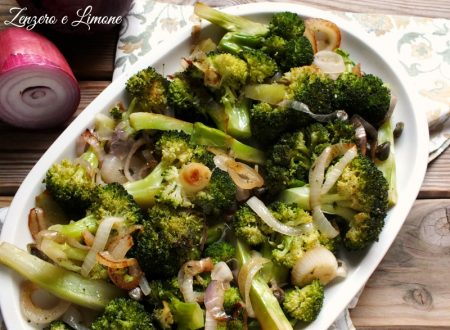 Broccolo e cipolla rossa