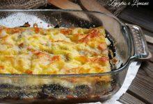 Lasagne al radicchio e formaggio