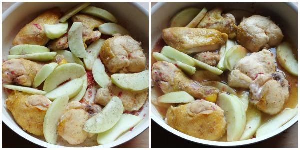 pollo alle mele - procedimento 1