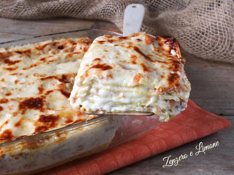 lasagne al salmone - fetta