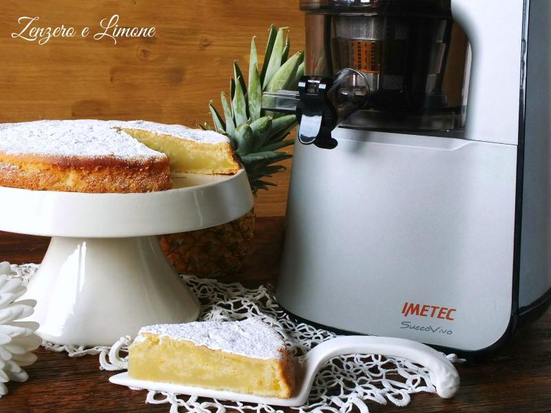 torta all'acqua e ananas - dettaglio
