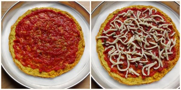 finta pizza di frittata - procedimento 3