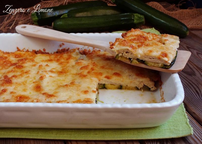 pollo e zucchine con crumble - fetta