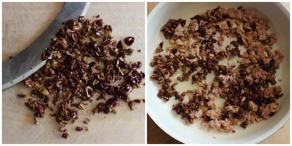 pasta tonno e olive - procedimento 1