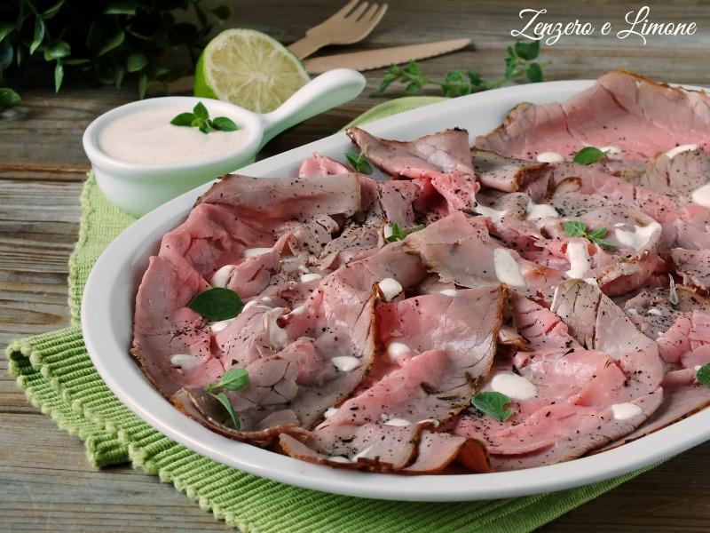carpaccio di roast beef -