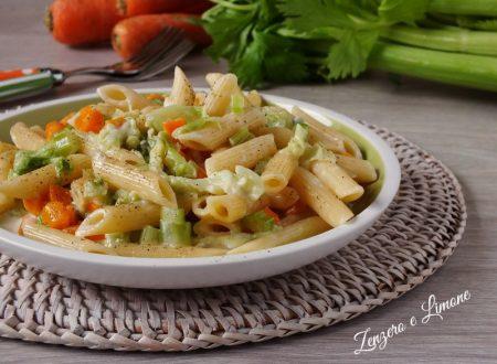 Pennette alle verdure e gorgonzola