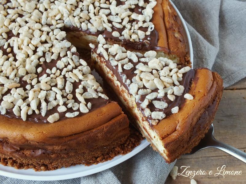 cheesecake senza gelatina - fetta