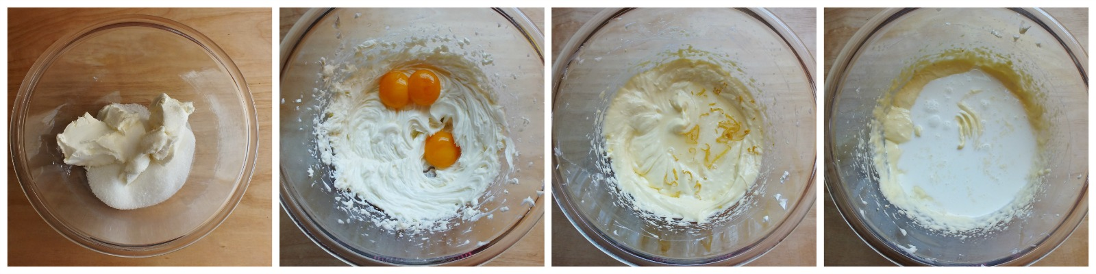 cheesecake senza gelatina - ripieno 1