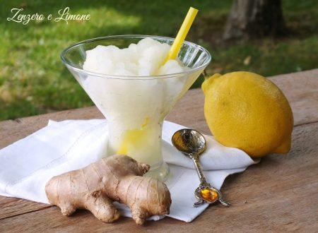 Granita allo zenzero e limone
