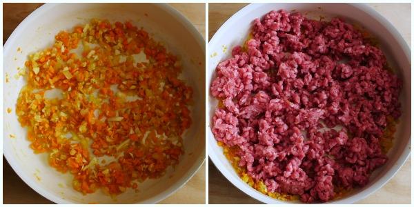 ragù di carne - procedimento 1