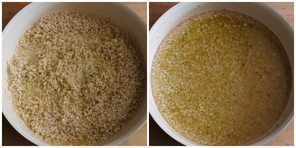 risotto verde - procedimento 1