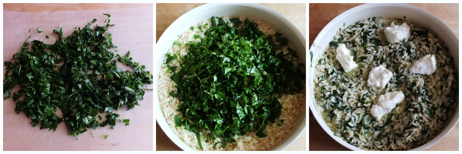risotto verde - procedimento 2