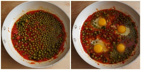 uova e piselli - procedimento 2