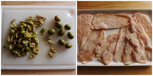 pollo alle olive - procedimento