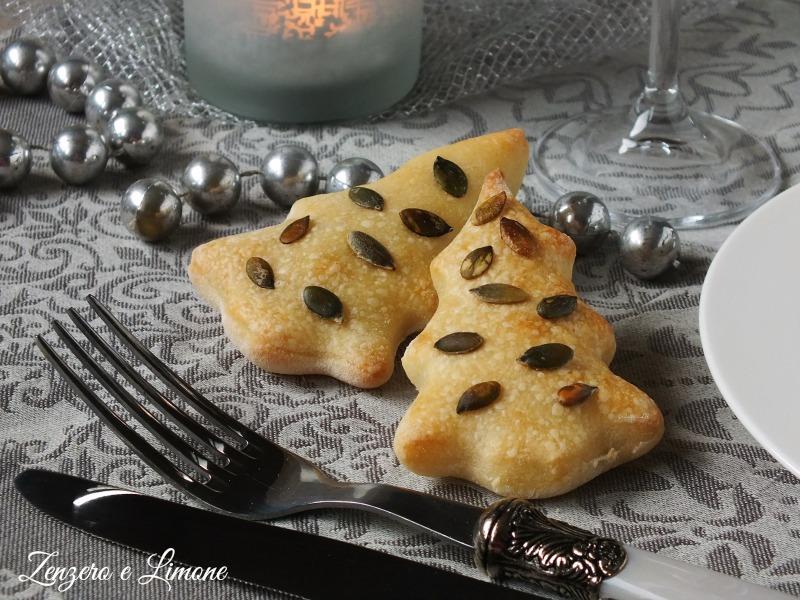 alberi di Natale di pane