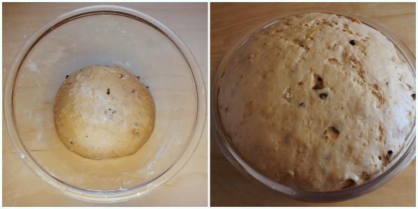 pane dolce alle mandorle - lievitazione