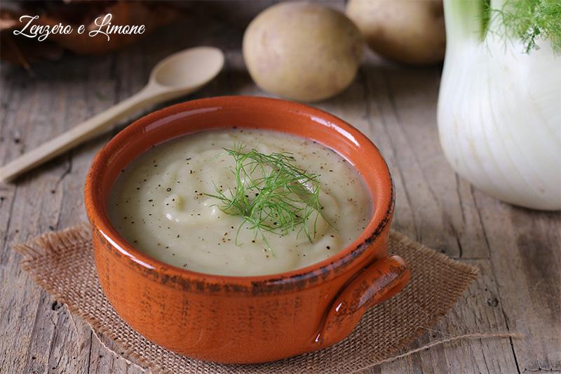 vellutata finocchi e patate