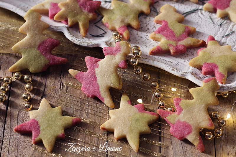 biscotti natalizi colorati - dettaglio