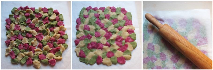 biscotti natalizi colorati - procedimento 3