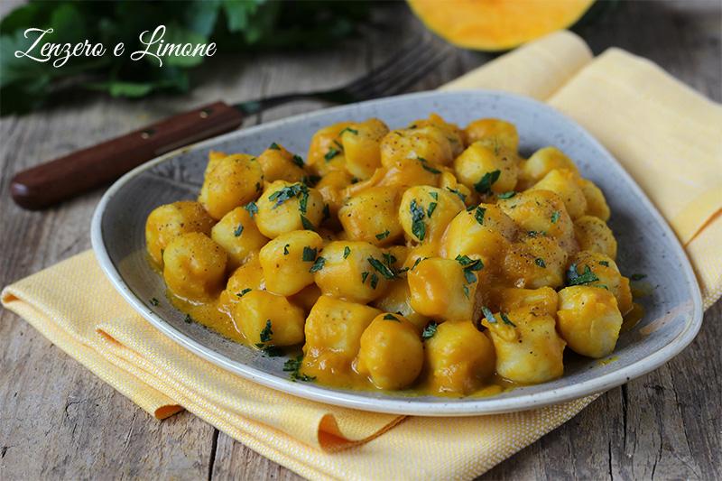 gnocchetti di patate alla zucca