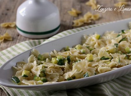 Pasta al provolone e zucchine